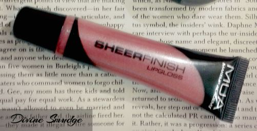 Closeup of MUA SHEERFINISH LIPGLOSS