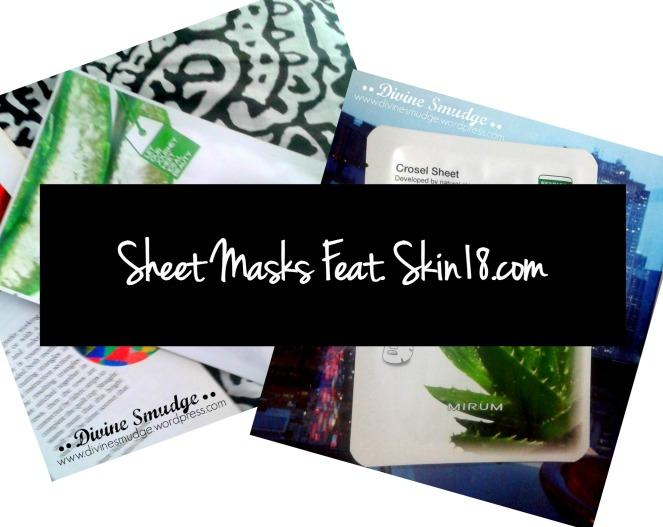 Sheet Masks Feat. Skin18